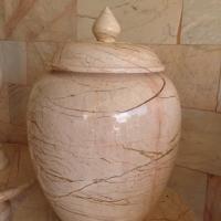 ผอบหินอ่อน หินสีชมพู ขนาดสูง 40x30 ซม.
