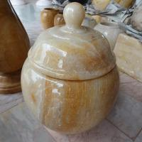 ผอบหินอ่อนน้ำผึ้ง ขนาดสูง 20x20 ซม.
