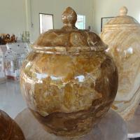 ผอบหินอ่อน หินหยกน้ำผึ้ง ขนาดสูง 40x25 ซม.