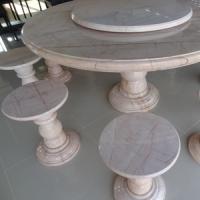 โต๊ะหินอ่อนทรงกลม ขนาด 150x80 ซม.
