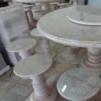 โต๊ะหินอ่อนทรงกลม ขนาด 180x80 ซม.