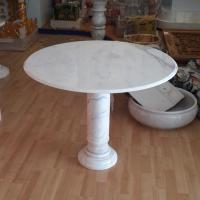 โต๊ะหินอ่อนทรงกลม ขนาดเล็ก