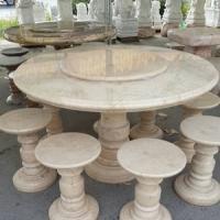โต๊ะหินอ่อนสีน้ำผึ้งทอง ขนาด 130x80 ซม.