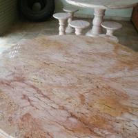 โต๊ะหินอ่อนสีชมพูทอง