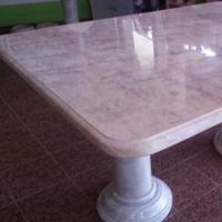 โต๊ะหินอ่อน ทรงสี่เหลี่ยม ขนาด 160x110x80 ซม.