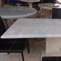 โต๊ะหินอ่อนสี่เหลี่ยม ขนาด 65x120x80 ซม.