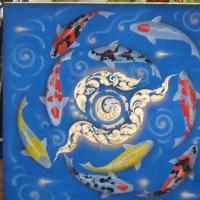 ภาพปลาคราฟ ไหว้ วนหยินหบาง พื้นน้ำ
