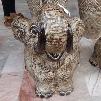 รูปปั้นหินทราย ช้าง ประดับบ้าน