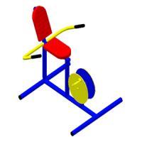อุปกรณ์บริหารข้อเข่า - ขา (แบบจักรยานล้อเหล็กนั่งพิง)