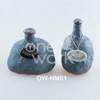 ขวดแชมพูเซรามิคปั้นมือ (OW-HM01)
