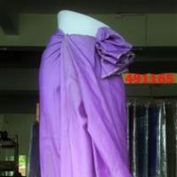 ผ้าไหมสีม่วงอ่อน สีพื้น 5 ตะกอ ลายพริกไทย 4 ม