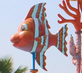 อุปกรณ์พ่นน้ำรูปปลาการ์ตูน