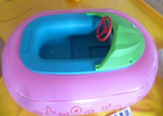 เรือยางเด็กสีชมพูสดใส