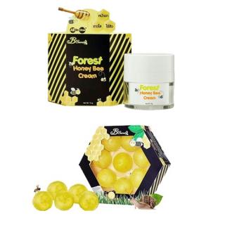 ครีมน้ำผึ้งป่า มาส์กลูกผึ้ง Set J