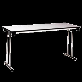 โต๊ะพับอเนกประสงค์ขาเหล็กคู่ หน้าโฟเมก้าขาว 25 มม
