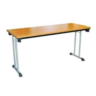 โต๊ะพับอเนกประสงค์ขาเหล็กคู่ หน้าเมลามีนลายไม้ 25 มม.