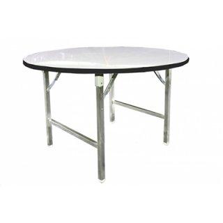 โต๊ะพับกลม หน้าโฟเมก้าขาว 19 มม.
