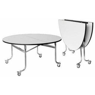โต๊ะพับกลมมีล้อ หรือโต๊ะแตงโม