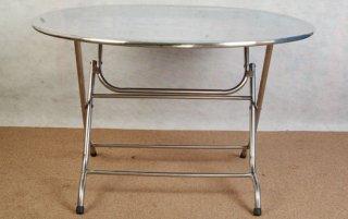 โต๊ะสแตนเลสหน้ากลม ขนาด 120 x 75 ซม.