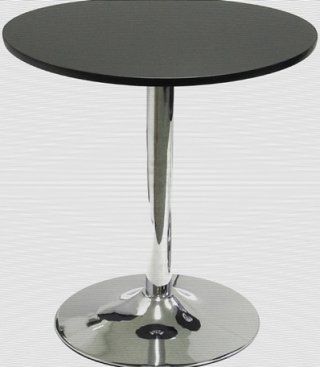 โต๊ะอาหารขาแชมเปญชุบโครเมี่ยม