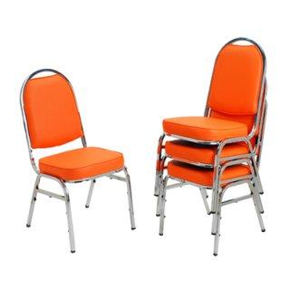 เก้าอี้จัดเลี้ยงหัวโค้งใหญ่รุ่น J-52 ขาชุบโครเมี่ยม