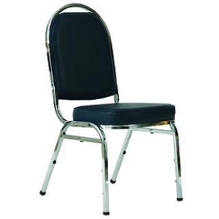 เก้าอี้จัดเลี้ยงหัวโค้งใหญ่รุ่น J-58 ขาชุบโครเมี่ยม