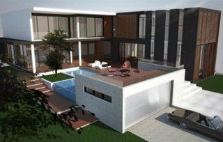 รับออกแบบบ้านสไตล์โมเดิร์น