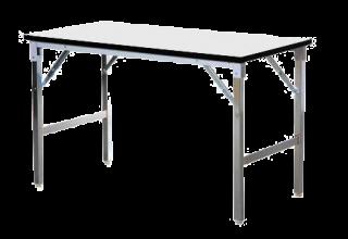 โต๊ะพับอเนกประสงค์หน้าเมลามีนขาว/เทา 25 มม.