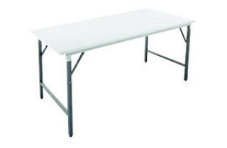โต๊ะพับอเนกประสงค์ หน้าเหล็กสีขาว 0.8 มม.