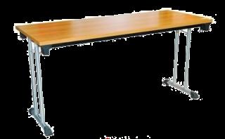 โต๊ะพับอเนกประสงค์ขาคู่ หน้าเมลามีน 25 มม. ลายไม้