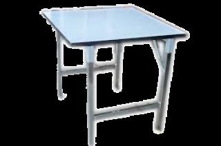 โต๊ะพับสี่เหลี่ยมจัตุรัส หน้าฟอเมก้าขาว 25 มม.