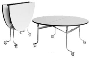 โต๊ะแตงโมหน้าไม้อัด 18 มม. ปูทับด้วยฟอเมก้าขาวมัน