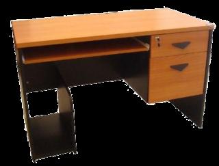โต๊ะคอมพิวเตอร์ 2 ลิ้นชัก หน้าเมลามีนลายไม้