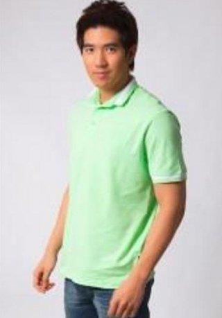 แบบเสื้อโปโลสีเขียวเลม่อน