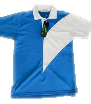 เสื้อโปโลสีฟ้า คาดขาว