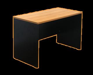 โต๊ะทำงานโล่ง ทรงสี่เหลี่ยมขาไม้