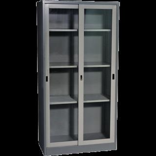 SC 01 ตู้เหล็กเก็บเอกสารบานเลื่อนกระจก
