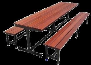 โต๊ะอาหารไม้เต็ง พร้อมม้านั่ง 2 ตัว