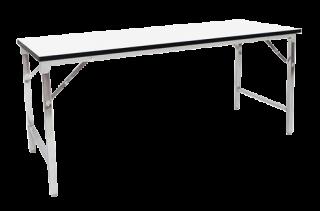 โต๊ะอาหารพับได้หน้าเมลามีนขาวมัน