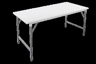 โต๊ะพับหน้าเหล็ก ขาว