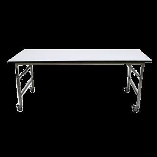 โต๊ะพับหน้าเมลามีนขาว หนา 19 มิล