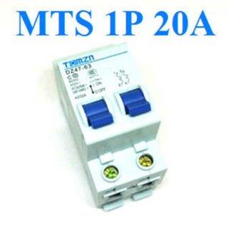 เบรกเกอร์สวิทช์ ระบบไฟ AC MCB 50HZ 1P 20A