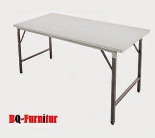 โต๊ะพับอเนกประสงค์ หน้าเหล็กขาว