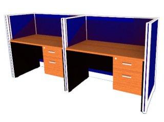 โต๊ะทำงาน แบบแบ่งสัดส่วน 2 ที่นั่ง