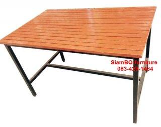 โต๊ะโรงอาหาร ไม้ระแนงหรือไม้ยาง