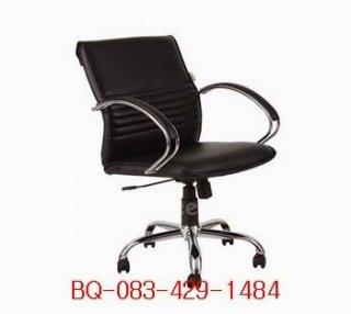 เก้าอี้สำนักงาน ขาเหล็กชุบโครมเมียม 26 นิ้ว