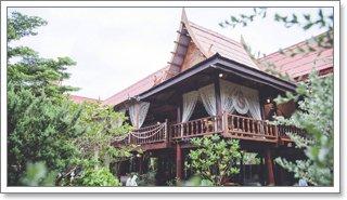 สถานที่จัดงานบรรยากาศบ้านทรงไทย