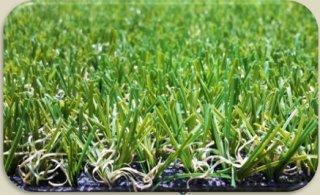 หญ้าเทียมรุ่น g5A ความสูงหญ้า 2 ซม(เขียวแซมน้ำตาล)