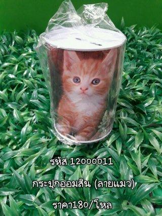 กระปุกออมสิน (ลายแมว) รหัส 12000011