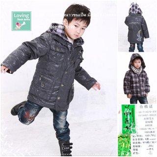 เสื้อกันหนาวขนเป็ดสำหรับเด็กเล็กสีเทา